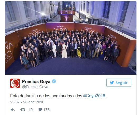 cena gala previa goya 2016